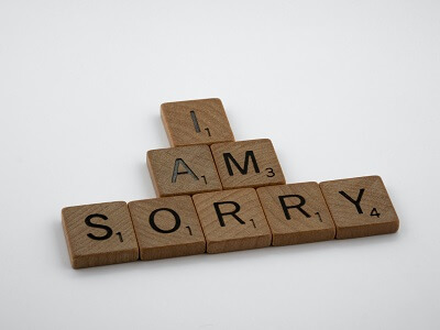 What is the best reply for sorry?